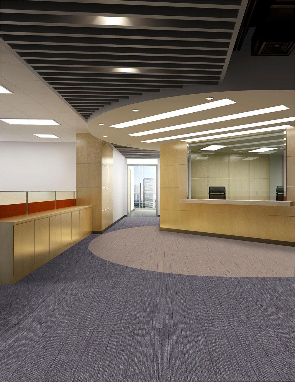 Reception carpet tiles